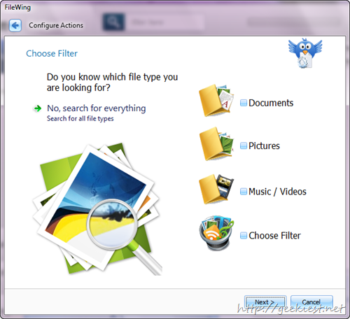 AbelsSoft FileWing PRO unlimited Licenses - Filters