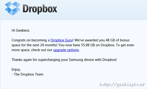 Free 50GB dropbox Account