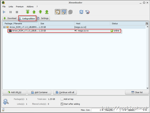 How to download from Mega using download manager
