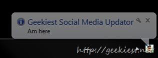 Social Media Updater Tray Icon