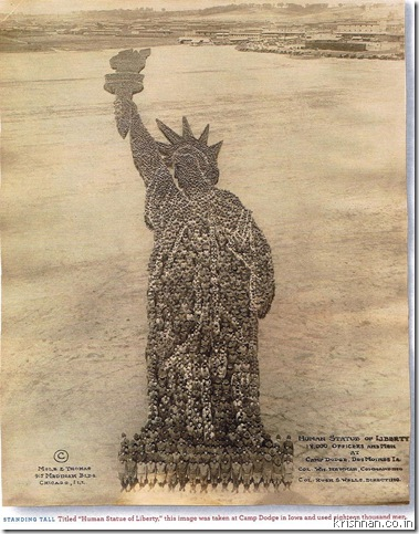 statue of liberty torch hand. Tablet in left hand: 27 feet.