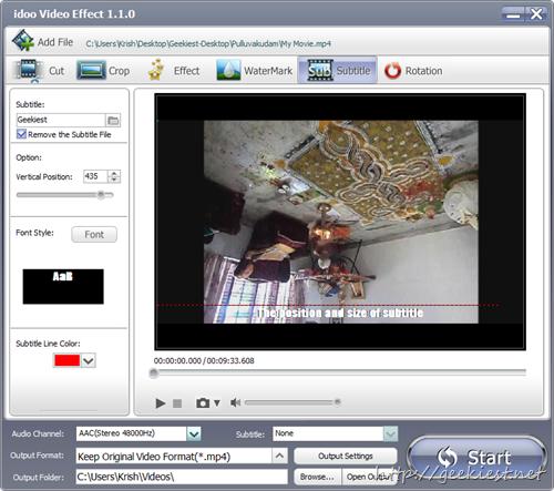idoo Video Editor Pro - Add subtitles to videos