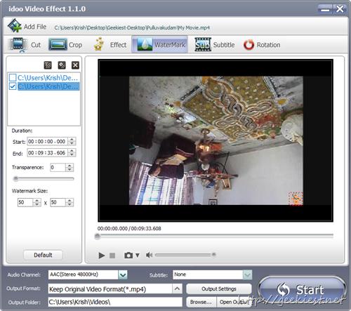 idoo Video Editor Pro - Add watermark