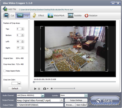 idoo Video Editor Pro Crop videos