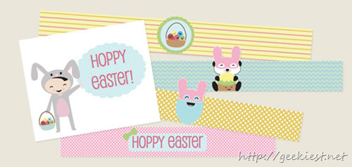 Free Printable Easter Card and Egg Holders