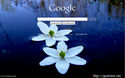 How to Change Google search home page background Now you can skip the step 1 ...