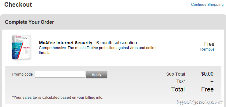 Free McAfee Internet Security 2013 Serial Key - 6 Months.