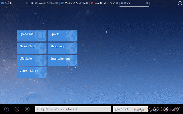 can download UC Brower HD for Windows 8 from Windows store for free