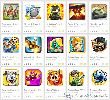 15 cent Android Games