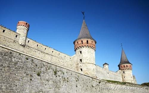 Walls of the old castle, Kamyanets-Podilsky, Podillya, Ukraine