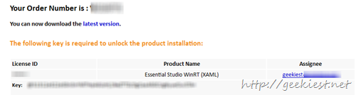 Essential Studio WinRT (XAML) full version license giveaway