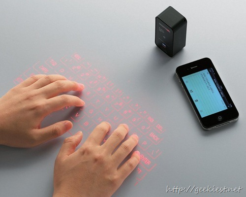 Projection Bluetooth Keyboard For iOS and Android