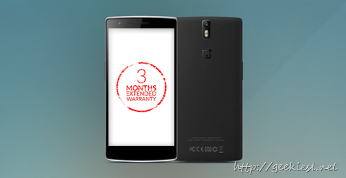 3 Months extended warranty for OnePlus phones in India