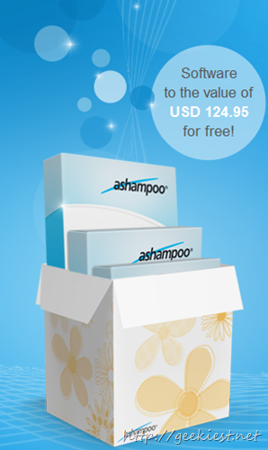 5 Ashampoo products worth USD 125 for Free