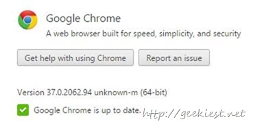 64 bit version string issue chrome