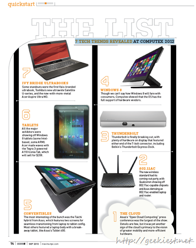 7 TECH TRENDS REVEALED at Computex 2012