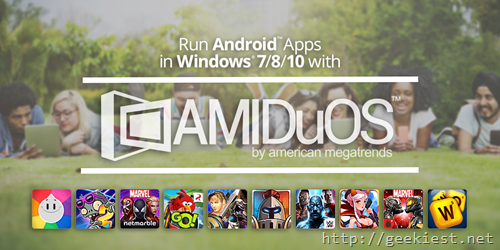AMIDuOS–Run Android on Windows–Free full version license giveaway
