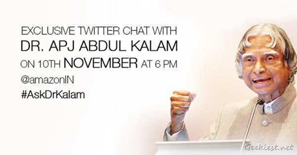 APJ Abdul Kalam Live Chat on Twitter with Amazon India