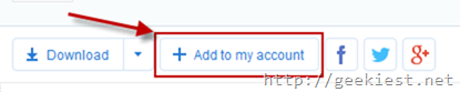 Add 4Shared folder tyo your account