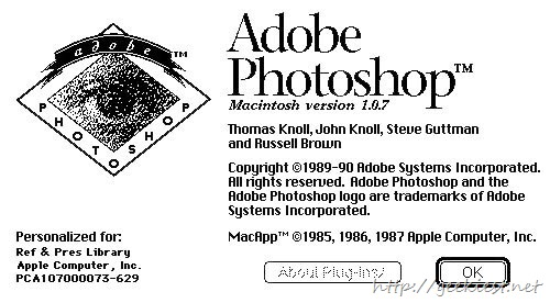 Adobe Photoshop 1.0.1 Source Code