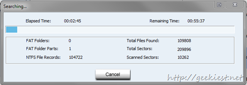 Advanced Files recovery scanning