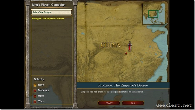 Age of Mythology EX Tale of the Dragon campaign map