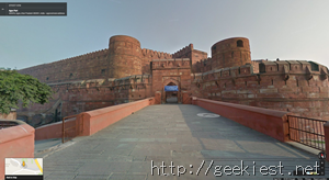 Agra Fort Google Street View