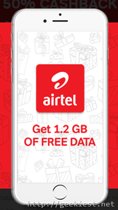 Airtel Prepaid users can get 1.2 GB of data for FREE