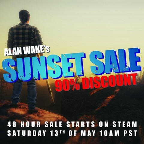 Alan Wake Steam Sale 90 percent off