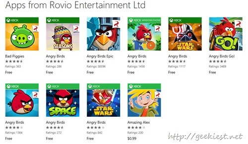 All Angry Birds Games are Now Free for Windows Phone