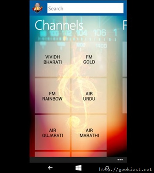All India Radio on Windows Phone
