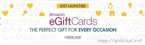 Amazon India launched eGiftCards