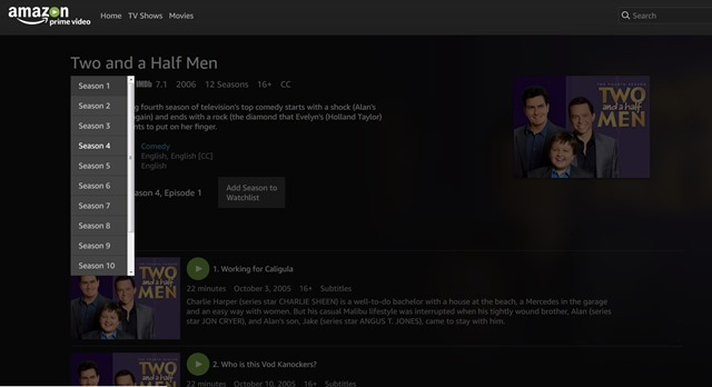 Amazon Prime Video Two and a half men