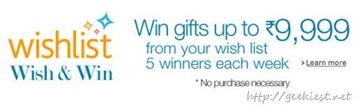 Amazon Wish and Win