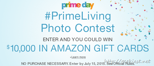 Amazon also having Prime Living photo contest