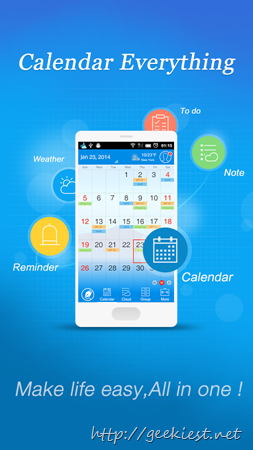 Android Application giveaway - Calendar  Note Everything