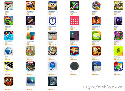Android Apps and Games worth USD 110 for free