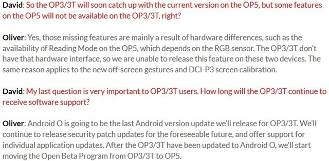 Android O for OnePlus 3 and 3T will be the last major OS update