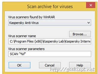 Anti virus scanning