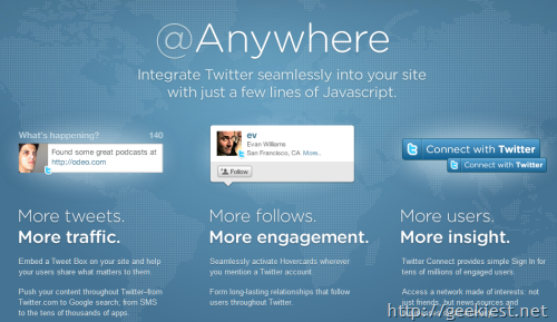 Anywhere-twitter-integration
