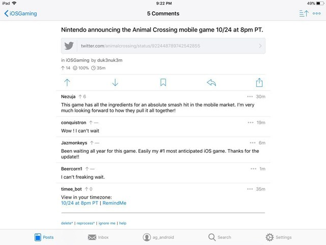 Apollo is a new reddit client for iOS: Free and has no ads