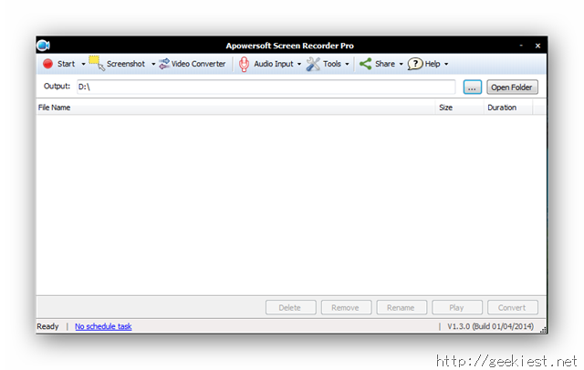 Apowersoft Screen Recorder UI