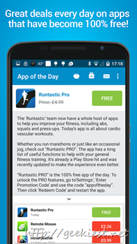 App of the day– Get paid Android Applications for free