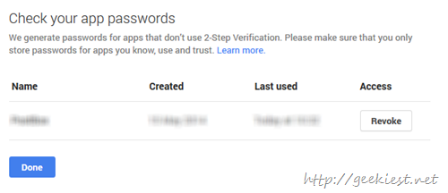 App passwords