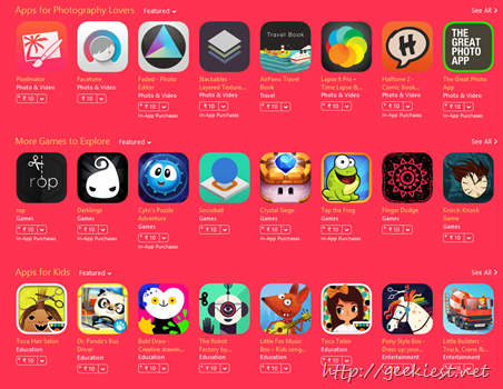 Apps and games for just INR 10