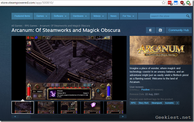 Arcanum Steam version