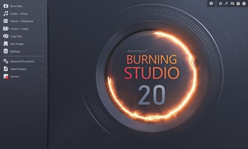Ashampoo Burning Studio 20 Interface
