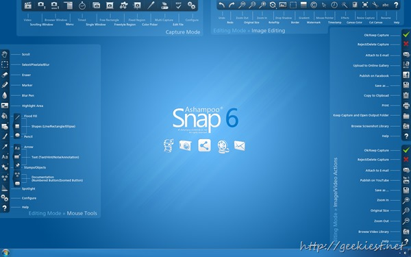Ashampoo snap 6 overview functions