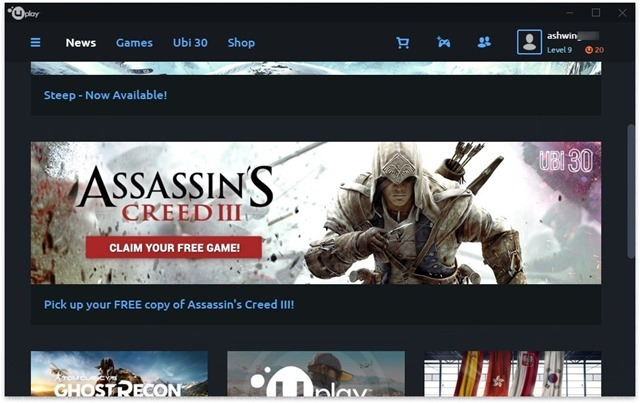 Assasins Creed 3 Uplay free