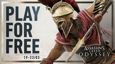 Assassins Creed Odyssey Play for Free this weekend
